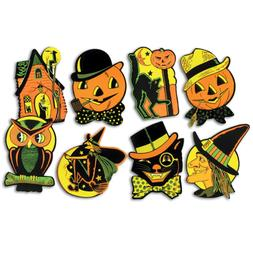 "Beistle 01009 Packaged Halloween Cutouts, 8.5"" - 9.25"", 4 Cu"