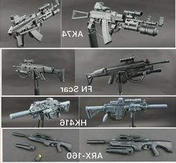 8PCS//SET Assault Rifle 1//6 Scale Fits Marvel Super Hero Figure Guns Accessories