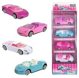 Liberty Imports 1:64 Scale Pink Diecast Race Car Set for Gir