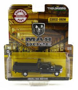 1:64 GreenLight *WORK SERIES* BLACK 2018 RAM 3500 DUMP TRUCK