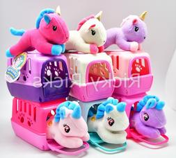 1 Small Pet Shop Toy Unicorn + Carrying Case Kids Cute Doll