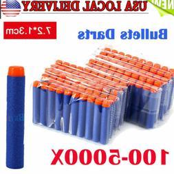 10-1000X Foam Bullet Darts For NERF N-Strike Kids Toy Gun Ro