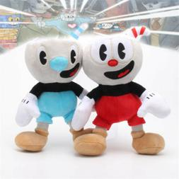 "10"" Cuphead Game Cuphead Mugman Plush Doll Mecup And Brocup"