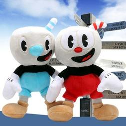 "10"" Cuphead Game Plush Toy Cuphead & Mugman Mecup And Brocup"