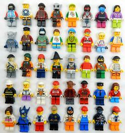 10 NEW LEGO MINIFIG PEOPLE LOT minifigure city town set rand