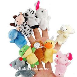 10 Pcs Family Finger Puppets Cloth Doll Baby Educational Han