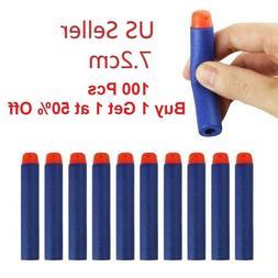 100 7.2cm Refill Foam Darts For Nerf N-strike Elite Series B
