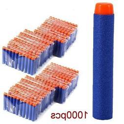 1000pcs Bullet Darts For NERF Kids Toy Gun N-Strike Round He
