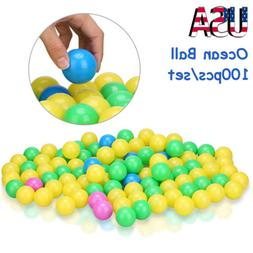 100Pcs Ocean Ball Plastic Colorful Balls Kid Secure Baby Pit