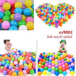 100PCS Ocean Ball Secure Plastic Colorful Balls Kid Baby Pit