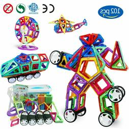 102 Piece Magnetic Tiles magnetic Building Blocks Toys for K