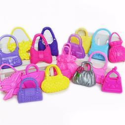 10pc Handbag Plustic Bag Backpack For Barbie Dolls Accessori