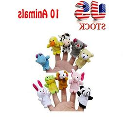 10PC Story Finger Puppets 10 Animals Educational Toy HM