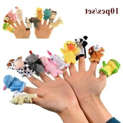 10pcs cartoon fingertip animal toys cloth dolls