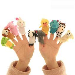 10PCS Fingertip Animal Toys Fingerpuppen Fingertiere Handkas