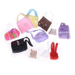 10pcs Randomly Bags For  Dolls Accessories Mix Handbag Kids