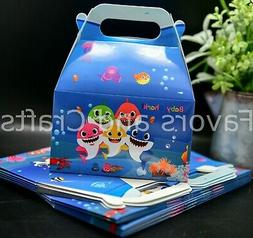 12 Baby Shark Favors Boxes Party Supplies Loot Bags Kids Toy