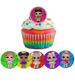 12 LOL surprise Rings cupcake toppers - birthday party favor