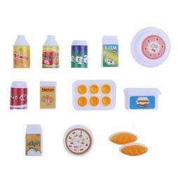 12 PCS Mini Simulation Food Juice Milk Drink Doll Accessorie