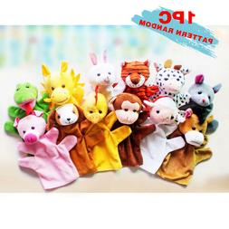 12 Styles Animal Wildlife Hand Glove Soft Plush Puppets Kids