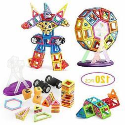 120pcs Toy 3D Bricks Magnetic Building Blocks Educational To