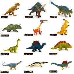 12PCS Plastic Dinosaur Ocean Wild Farm Animals Model Kids To