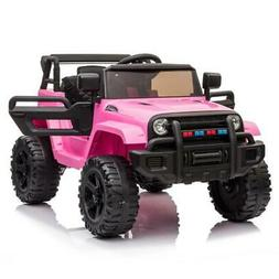 12V Electric Kids Ride on Car Truck Toys 3 Speeds MP3 LED w/