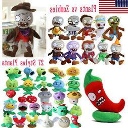 13-35cm Plants vs Zombies Figures Plush Baby Toy Stuffed Sof