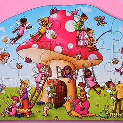 15 Piece Fairy Cottage Shaped Floor Puzzle Birthday Party To
