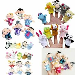 16 pcs LOT Cute Finger Puppets Animals People Family Members