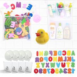 Tub Cubby Bath Toy Organizer, Double Set, 2 Quick Dry Mesh B