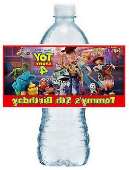 20 TOY STORY 4 BIRTHDAY PARTY FAVORS ~ WATER BOTTLE LABELS r