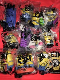 2017 McDonalds's Minions Despicable Me 3 USA Happy Meal Toys