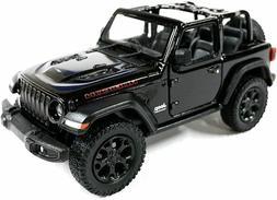 2018 Jeep Wrangler Rubicon Convertible Black Diecast Model T