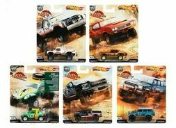 2019 Hot Wheels Desert Rally Set of 5 Cars Car Culture Case