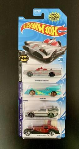 Hot Wheels 2019 F Case Lot of 4 Screen Time Cars Batman, Btt
