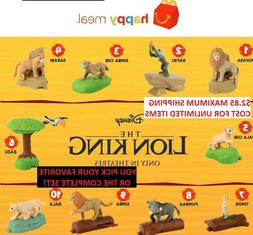 2019 McDonalds Disney THE LION KING Happy Meal Toys PRICES S