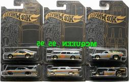HOT WHEELS 2019 SATIN & CHROME 51ST ANNIVERSARY SET OF 6 DAT