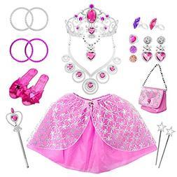 21 Pack Princess Pretend Jewelry Girls Toys, Girl�s Jewelr
