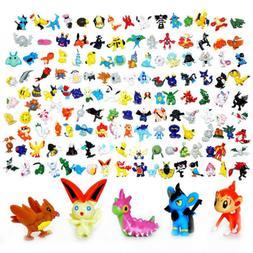 9pcs Pokemon Pokeball + 24pcs Action Figures Random Cosplay