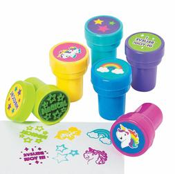 24 Rainbow Unicorn Ink Stampers Birthday Party Craft Favors