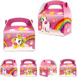 24pk  Rainbow Unicorn Party Treat Goody Boxes Favors Toys Bi