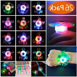 26Pcs LED Party Favor Spin Relief Anxiety Toy Light Up Glow