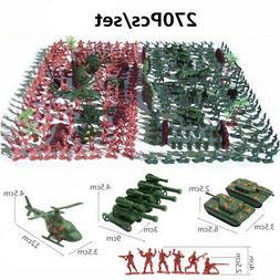 270 pcs Military Playset Plastic Toy Soldier Army Men 4cm Fi