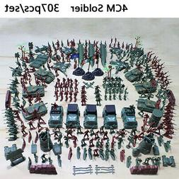 307 pcs/set Military Playset Plastic Toy Soldier Army Men Fi
