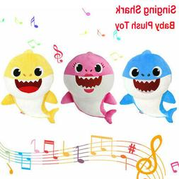 32CM Baby Kid Sing Song Shark toy Stuffed Plush Doll Soft Sh
