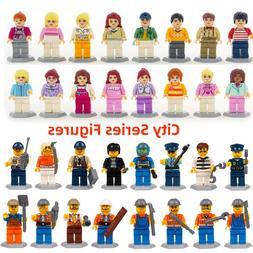 32pcs/lot Model Building Blcoks City Boy and Girl Figure set
