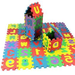 36 Pcs Soft EVA Foam Baby Kids Play Mat Alphabet Number Puzz