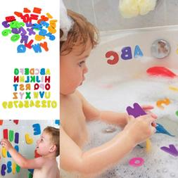 36Pcs Bath Learn Letters & Numbers Stick Floating EVA Baby B