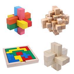 3D Wooden Puzzles Games Logic Mind Challenge Brain Teaser Ji